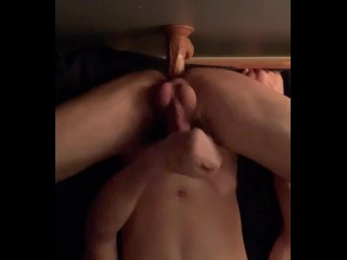 Twink Uses Dildo To Milk His Cock