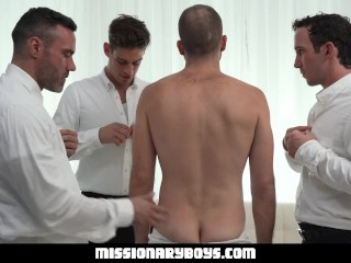 Missionaryboys - Priest Gets His Hole Destroyed By Fellow Clergymen